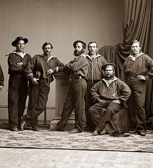 Mid-19th century American sailors (Civil War)